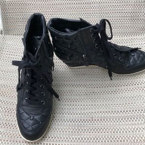 A.S.H. Black high-tops with wedge hee